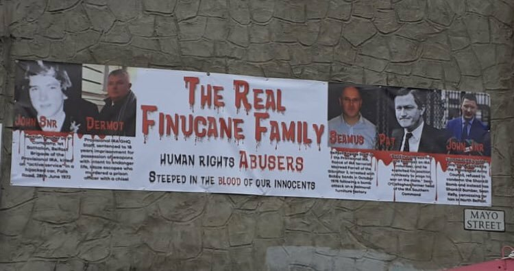 DUP has claimed it is 'unaware' of anti-Finucane sectarian banners being erected inBelfast